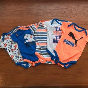 Set of 5 Puma Onesies